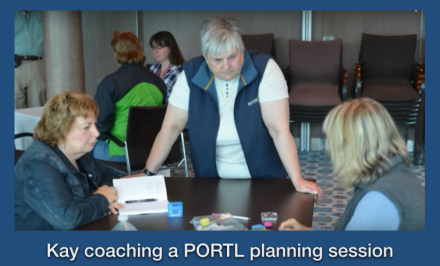 kay coaching Portl planning session