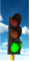 green light traffic signal