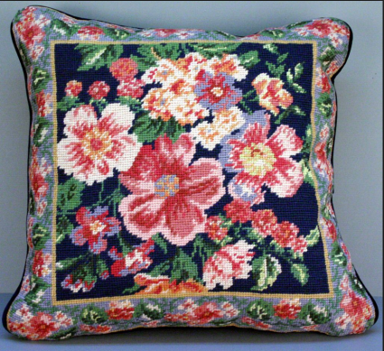 needle point pillow