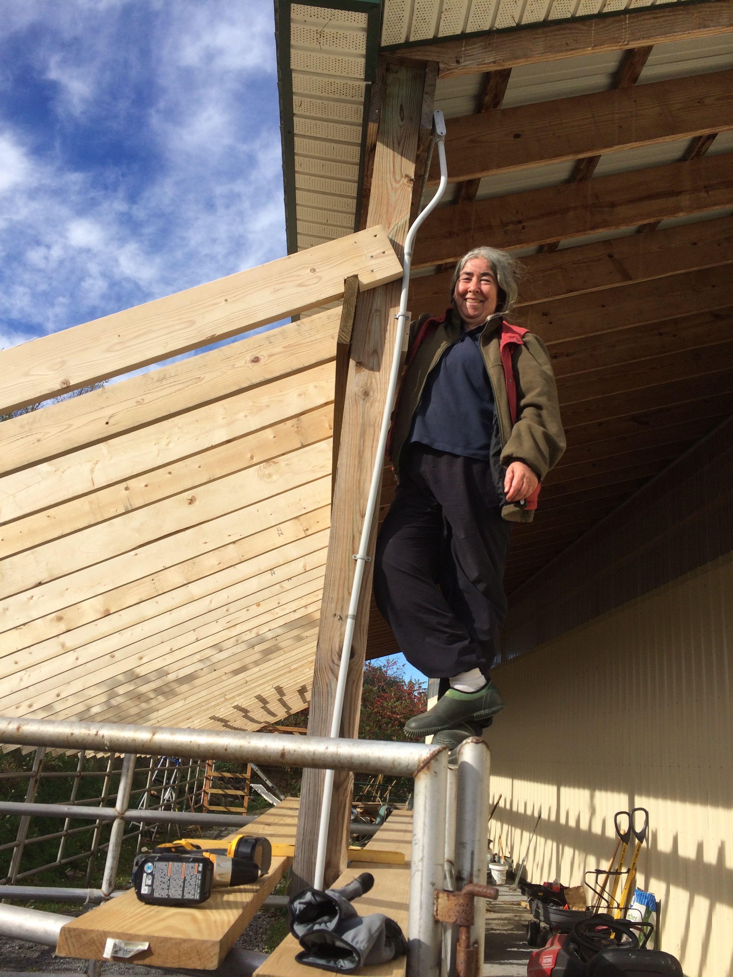 IMG_3871 AK on scaffolding of goat palace